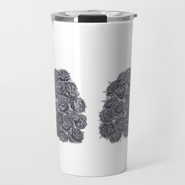 Lungs with peonies Travel Mug
