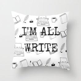 Really, I'm Fine Throw Pillow