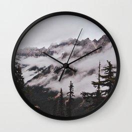 Fog in the Cascades Wall Clock