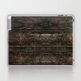Wooden Greek Meander Pattern - Greek Key Ornament Laptop & iPad Skin