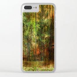 Autumn Sunset - In The Woods Clear iPhone Case