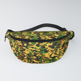 Masking in colors brown green yellow Fanny Pack