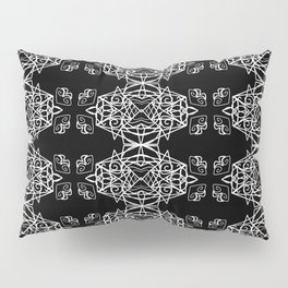 white decor on black Pillow Sham