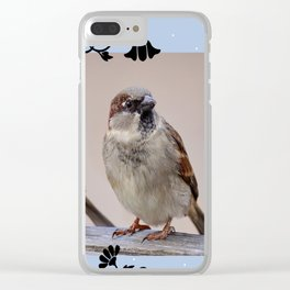 Two Birds on a Branch Clear iPhone Case