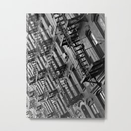 Fire escapes Metal Print