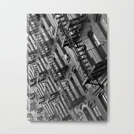 Fire escapes Metal Print