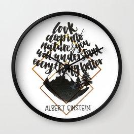 Einstein quote Wall Clock