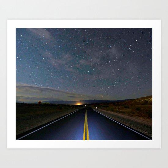 Star Struck ~ Death Valley  Art Print
