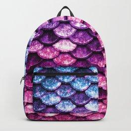Mermaid Tail Pink Purple Blue Backpack