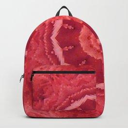 Rose Red Pixel Mandala Backpack