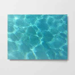 Turquoise Blue Water Metal Print