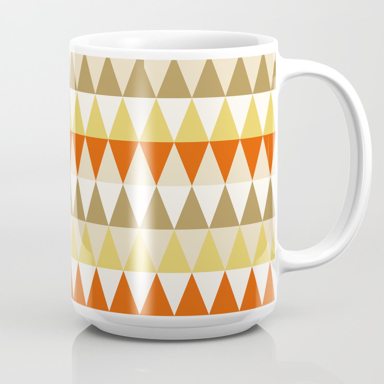 Triangle Pattern Wallpaper Coffee Mug By Comodo777 Society6