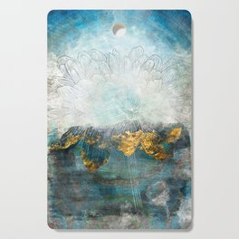 Lapis - Contemporary Abstract Textured Floral Cutting Board