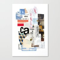 los angeles Canvas Prints featuring Los Angeles by Emily Rickard