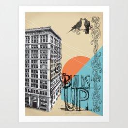 Love Builds Up Art Print