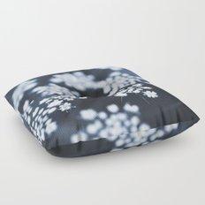 flower - blue lace Floor Pillow