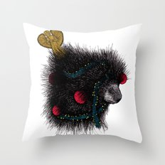Christmas Porcupine Tree Throw Pillow