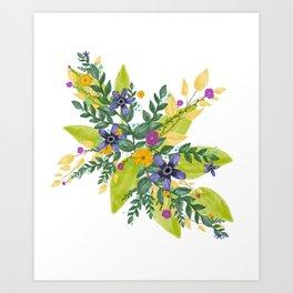 Flower Bundle Art Print