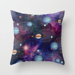 SPACE-the final frontier Throw Pillow