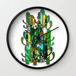 Cactus and Pom Poms Wall Clock