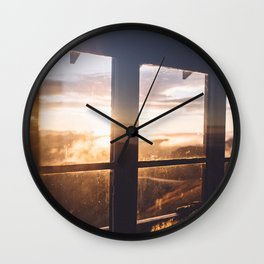 Rainier Sunrise Wall Clock