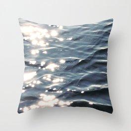 Sunlight on Ocean Water Waves Throw Pillow