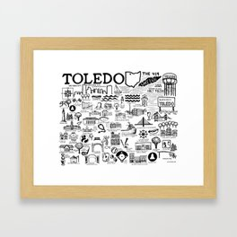 Toledo Ohio Framed Art Print
