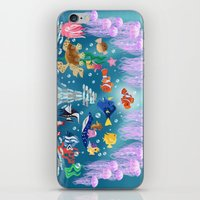 finding nemo iPhone & iPod Skins featuring Sea Wallpainting by princessbeautycase
