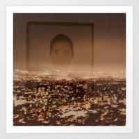 no face Art Prints featuring Face by Sébastien BOUVIER