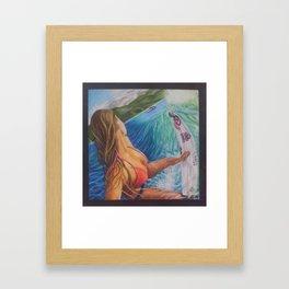 Surfer Girl Framed Art Print