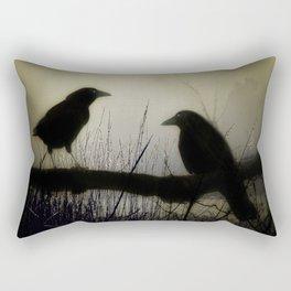Misty Crows Rectangular Pillow