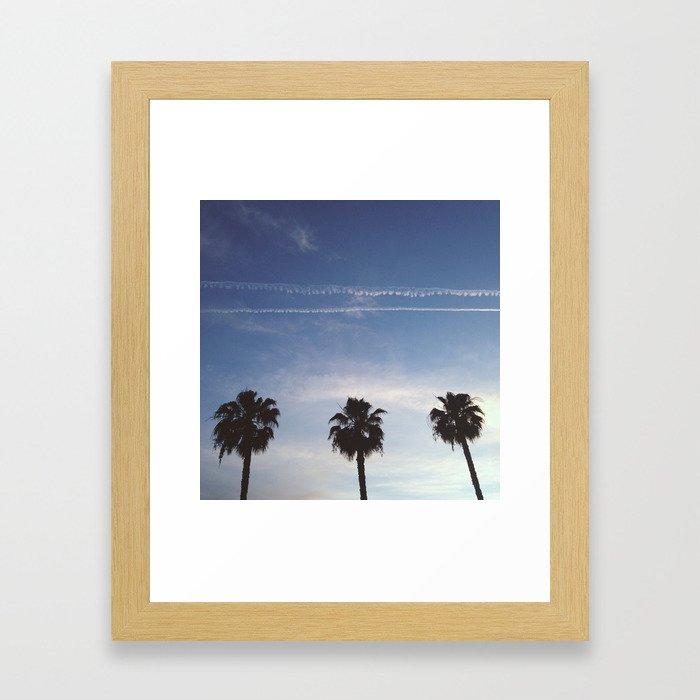 Palm Trio Framed Art Print