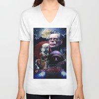 stephen king V-neck T-shirts featuring Stephen King by Saint Genesis