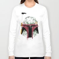 boba Long Sleeve T-shirts featuring Boba by Purple Cactus