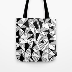 Ab Lines with Black Blocks Tote Bag