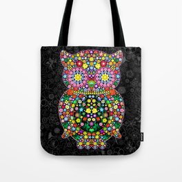 Owl Zentangle Floral   Tote Bag