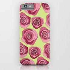 Bright Rose Pattern Slim Case iPhone 6s