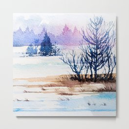 Winter Forest 3 Metal Print