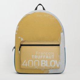 The 400 Blows, les Quatre cents coups, François Truffaut, minimalist movie poster, Jean-Pierre Léaud Backpack