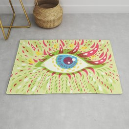 Front Looking Psychedelic Eye Rug