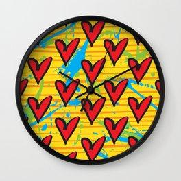 Joy by Kathy Morton Stanion Wall Clock
