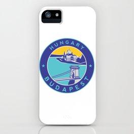 Budapest, Hungary, blue circle iPhone Case