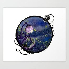 Meegan and the Moon Art Print