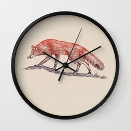 Hunting Fox Wall Clock
