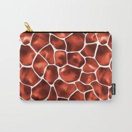 Watercolor Giraffe's Spots (Copper Brown) Carry-All Pouch
