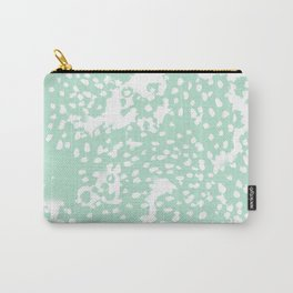 Dot pattern mint abstract minimal painting dorm college office gifts decor Carry-All Pouch
