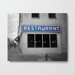 Toms Diner NYC Metal Print