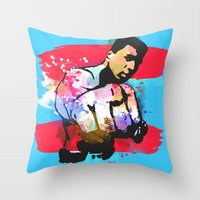 ali Throw Pillows featuring Ali by BIG Colours