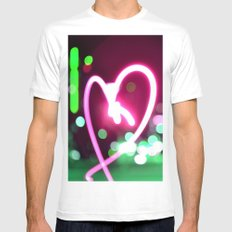 Heart Mens Fitted Tee White MEDIUM
