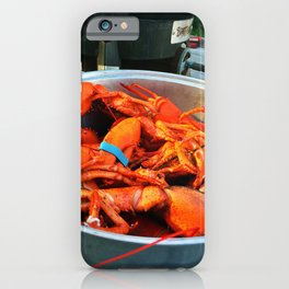 Maine Lobster Pot (3) iPhone Case